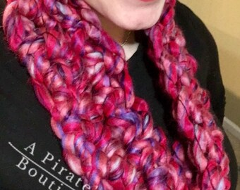 Oh So Lovely Finger Crocheted Cowl