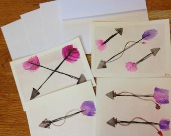 watercolor postcard pack - arrows