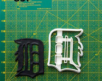 Detroit Tigers Cookie Cutter Detroit Tigers Fondant Cutter Detroit Tigers Party  Detroit Tigers Birthday Detroit Tigers Baby