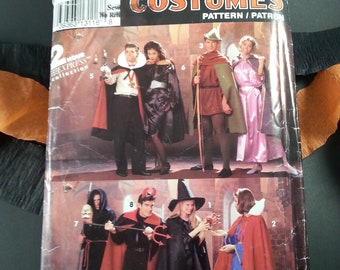 Adult Costumes Dracula Robin Hood Maid Marion Devil Witch Snow White Halloween Simplicity 0636
