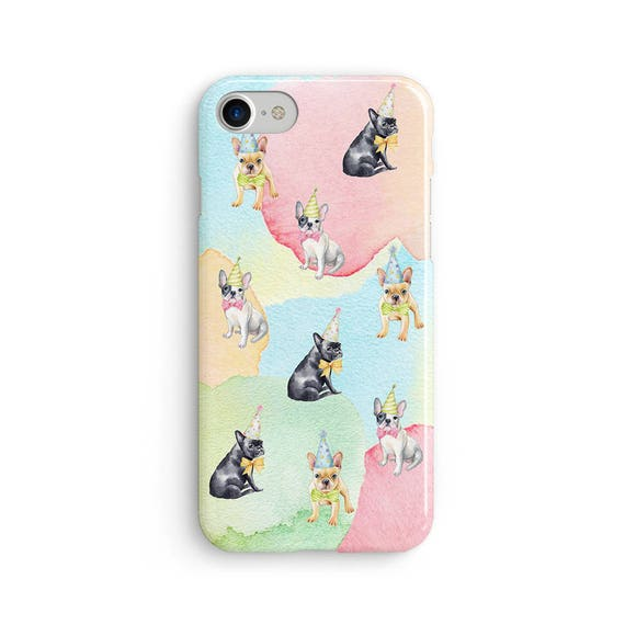 Pugs everywhere watercolor  iPhone X case - iPhone 8 case - Samsung Galaxy S8 case - iPhone 7 case - Tough case 1P071