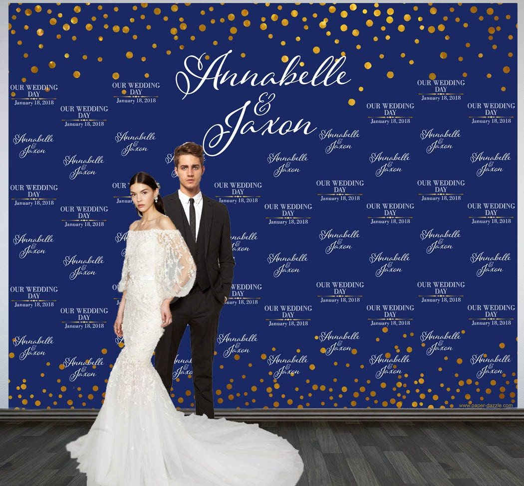 Wedding Photo Backdrop Custom Wedding Backdrop Personalized