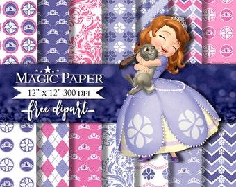 Princess Sofia the first Digital Paper Clipart Clip Art