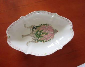 Antique MEISSEN Hand painted porcelain serving plate