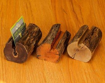 Driftwood holder etsy log business card holder wood wooden business card holder driftwood business card walnut cherry sassafras log home decor rustic gift reheart Choice Image