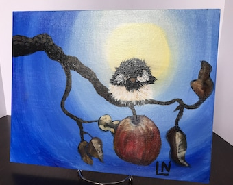 Cheeky Chickadee Painting