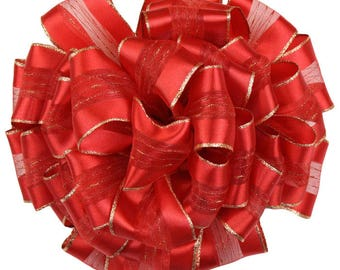 Red Fortress, Wired Edge Ribbon, 2-Inch by 22-Yard, Red gift wrap, holiday ribbon, retro ribbon