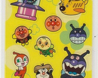Anpanman Clear Stickers - Yellow - Reference U5743-44