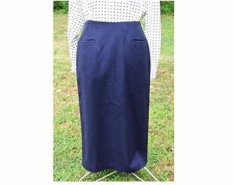 SALE | 80s Vintage Wool Pencil Skirt | 80s Fashion | Vintage Michele Skirt