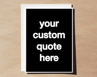 Quote Card Set - Custom Quote