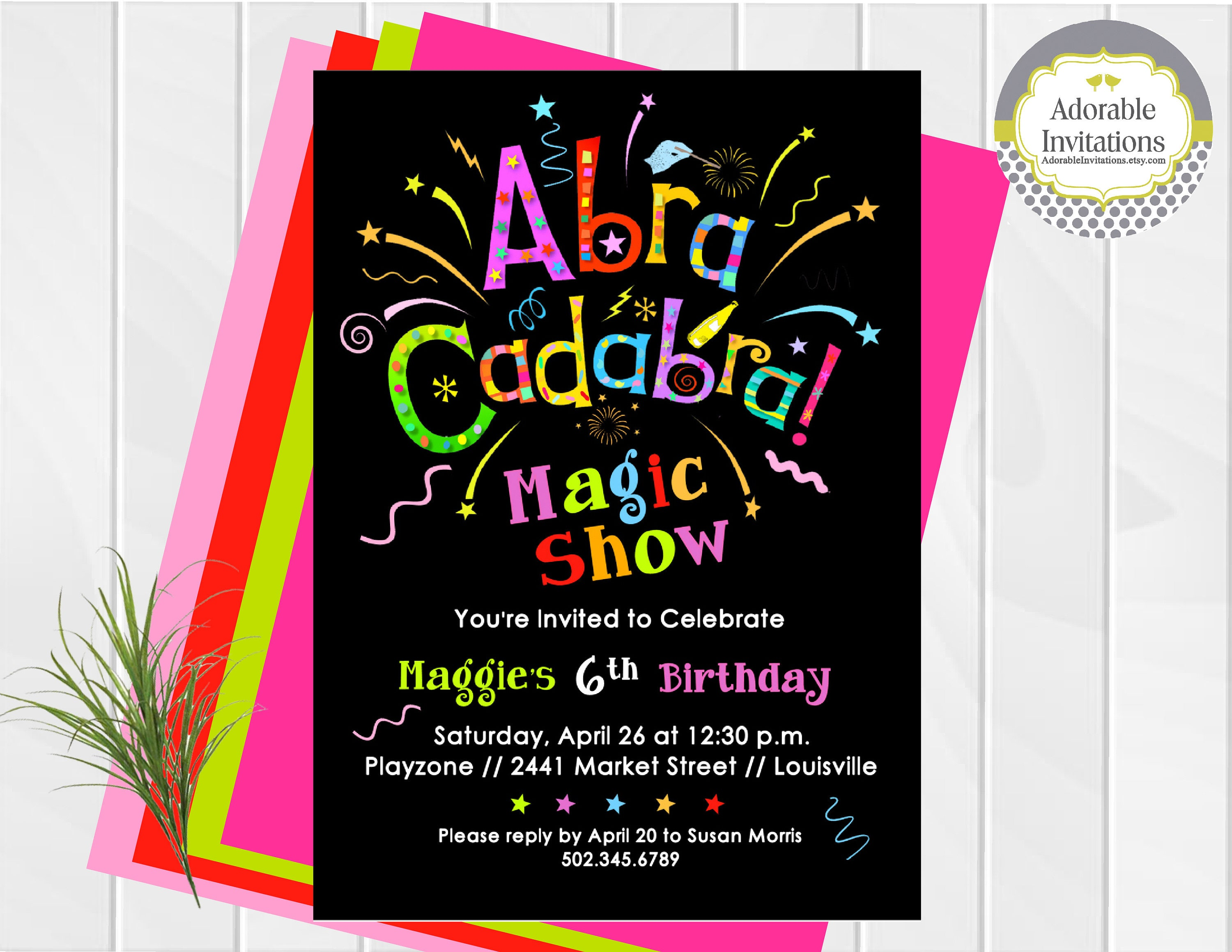 birthday party invitations magic show : Cogimbo.us