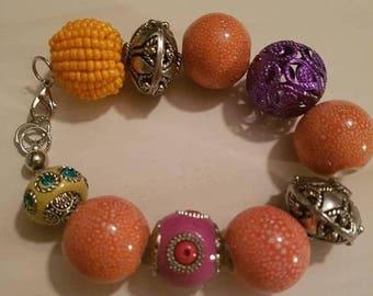 Sale Sale Sale Colourful bracelet with lobster clasp