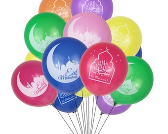 30 assorted color Eid balloons