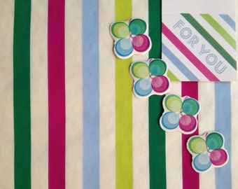 Vintage 1950's/1960's Wrapping Paper: Mod Stripes