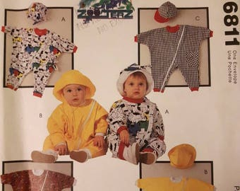 McCall's 6811, Infant's Romper and Hat Pattern
