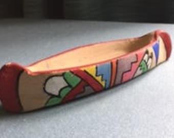 Jemez Indian Pottery Canoe