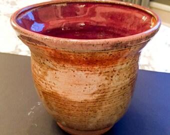 Shino and Vegas Red Flared vase