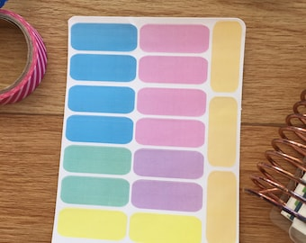 Plain stickers,  cool colours #021 - Erin Condren, Kikki K, Happy Planner