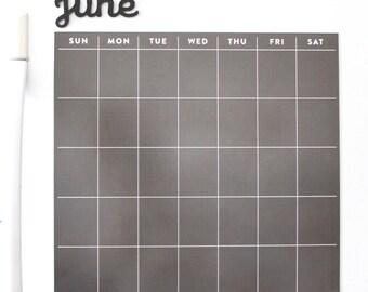 Fridge calendar - magnetic calendar