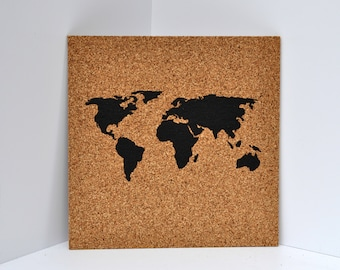 Been there pinned that pinnable corkboard by beentherepinnedthat push pin cork map of the world wanderlust travel corkboard bucket list bulletin board gumiabroncs Image collections