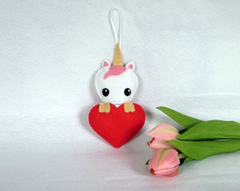 Unicorn ornament, mother's day, felt unicorn, mothers day gift, unicorn decorations, gift for her, unicorn felt, felt unicorn ornament