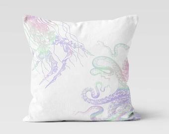 Sea Life Colorful Throw Pillow - Decorative Pillow - Home Decor  - Pillow Case