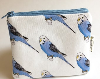 Budgie Fabric Coin Purse