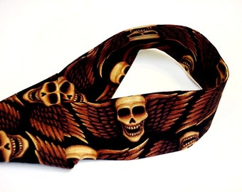 Halloween Adult Headband, Neck Cooler, Skull with Wings Bandana Cooling Scarf, Gel Stay Cool Tie Body Heat Relief Biker Wrap iycbrand