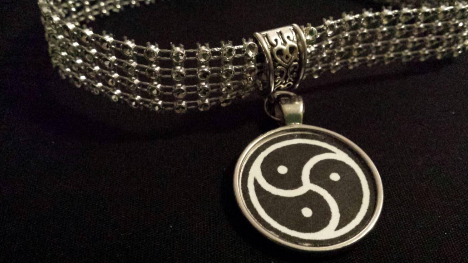 Bdsm jewelry necklace day collar bdsm emblem round pendant zoom biocorpaavc Gallery