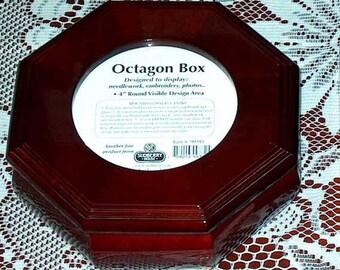 Needlework Boxes, Needlepoint Supplies, Needlework Accessories, Needlepoint Boxes, Decorative Wooden Boxes, Octagon Box (Sudberry 99381)