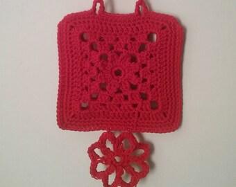 Small Floral Handbag, Lace Crochet Handbag, Ella Marie Collection