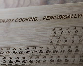 Personalized Cutting Board, Periodically Inspired, Cooking, Periodic Table, Cook Gift, Elements Art, Science Decor, Chemistry Gift, Teacher