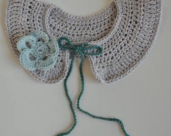 Peter Pan collar crochet 100% cotton