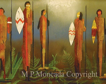 Lord Of The Flies, People, Giclee Of An Original Mixed Media Painting By M P Moncada