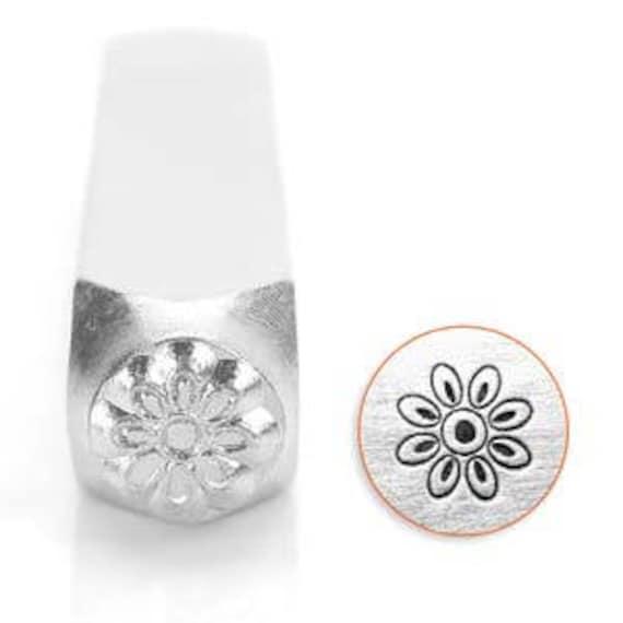 Floret Flower Metal Design Stamp 6mm wide and 6mm high - Metal Punch - ImpressArt