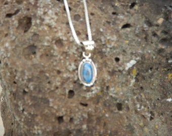 Blue and Sterling Silver Navajo Pendent