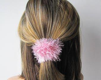 Luxury scrunchie wool accessorie scrunchy hair ties hair elastic scrunchy handknit yarn scrunchie scrunchie pink scrunchy gymnastic