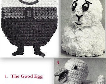 Easter Egg-Bunny-Quacker 3 Patterns- 2 Crochet - 723151
