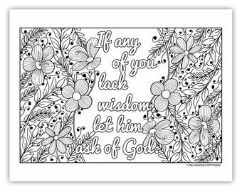 """2017 Mutual Theme Coloring Page 8.5""""x11"""" - Flower Border"""