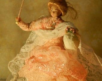 A breath of fresh air  : ooak miniature porcelain doll 1/12 scale