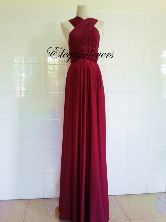 Red Wine Merlot Burgundy Maternity Dress Wedding Maroon