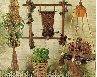 Mad About Macrame Pattern Book HA36 Creative American Craft Series