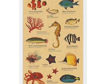 Fish Sticker - Ocean Stickers - Sea Creatures Stickers - Planner Stickers