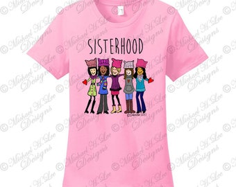 Womens March T Shirt, Sisterhood t shirt,  March on DC, Womens March on DC,  Breast Cancer t shirt gift,the future is female,gift