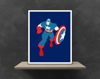 Captain America Minimalist Poster | Marvel Poster Marvel Superhero Marvel Avengers Avengers Costume Avengers Movie Poster Avengers Assemble