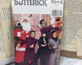 Butterick 5042 Santa Frankenstein werewolf ninja boyu0027s Costume sewing pattern S-L Chest 26-32 & Werewolf pattern | Etsy