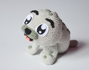 Crochet PATTERN No 1637 - Baby Seal by Krawka, cute, winter, sea creature, plush