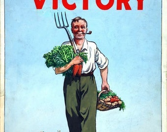 Wartime Dig For Victory Poster A3/A2 Print
