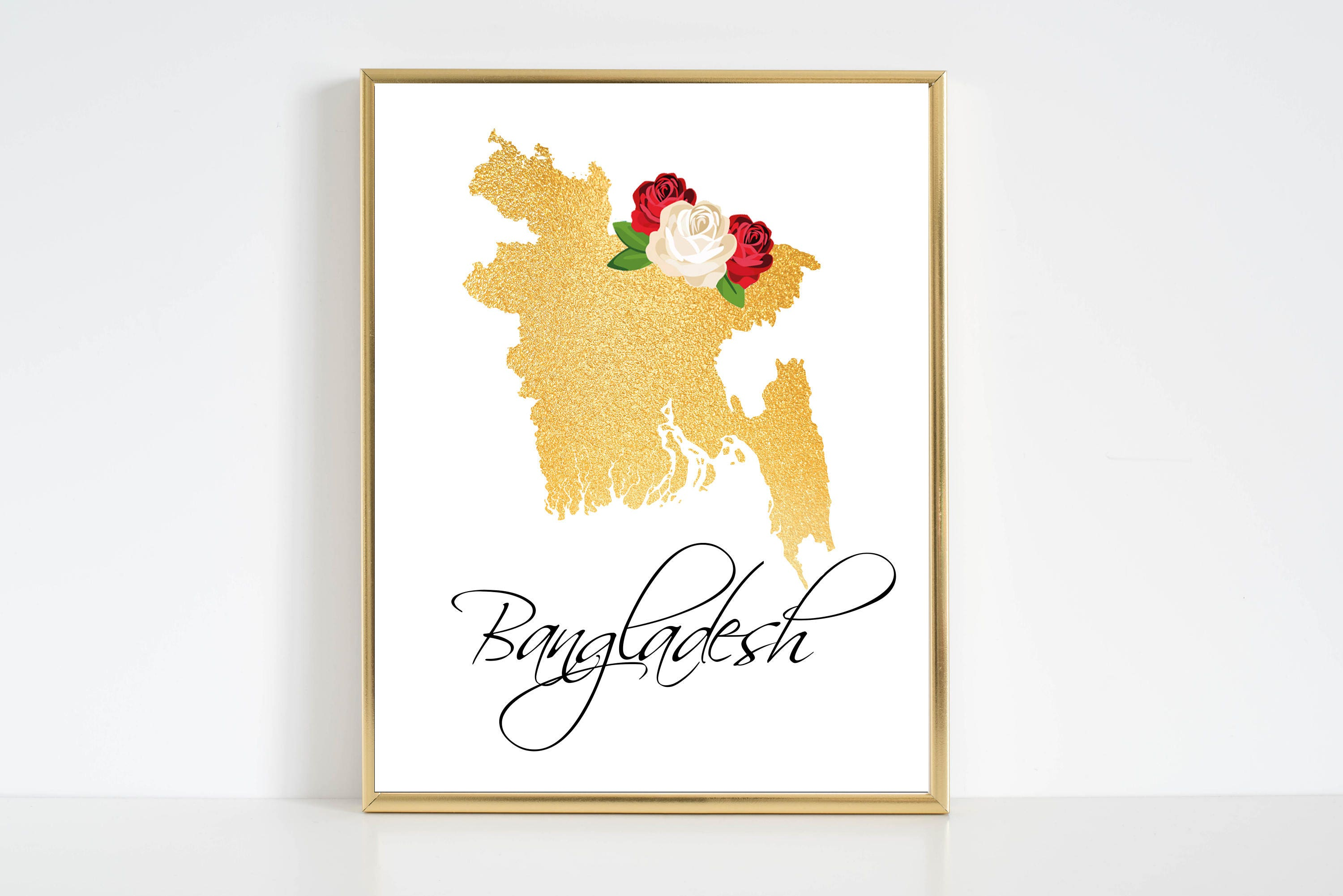 Bangladesh Map. Bangladesh Printable. Bangladesh Wall Art.