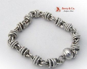 SaLe! sALe! Ornate Chain Bracelet Sterling Silver Eb64